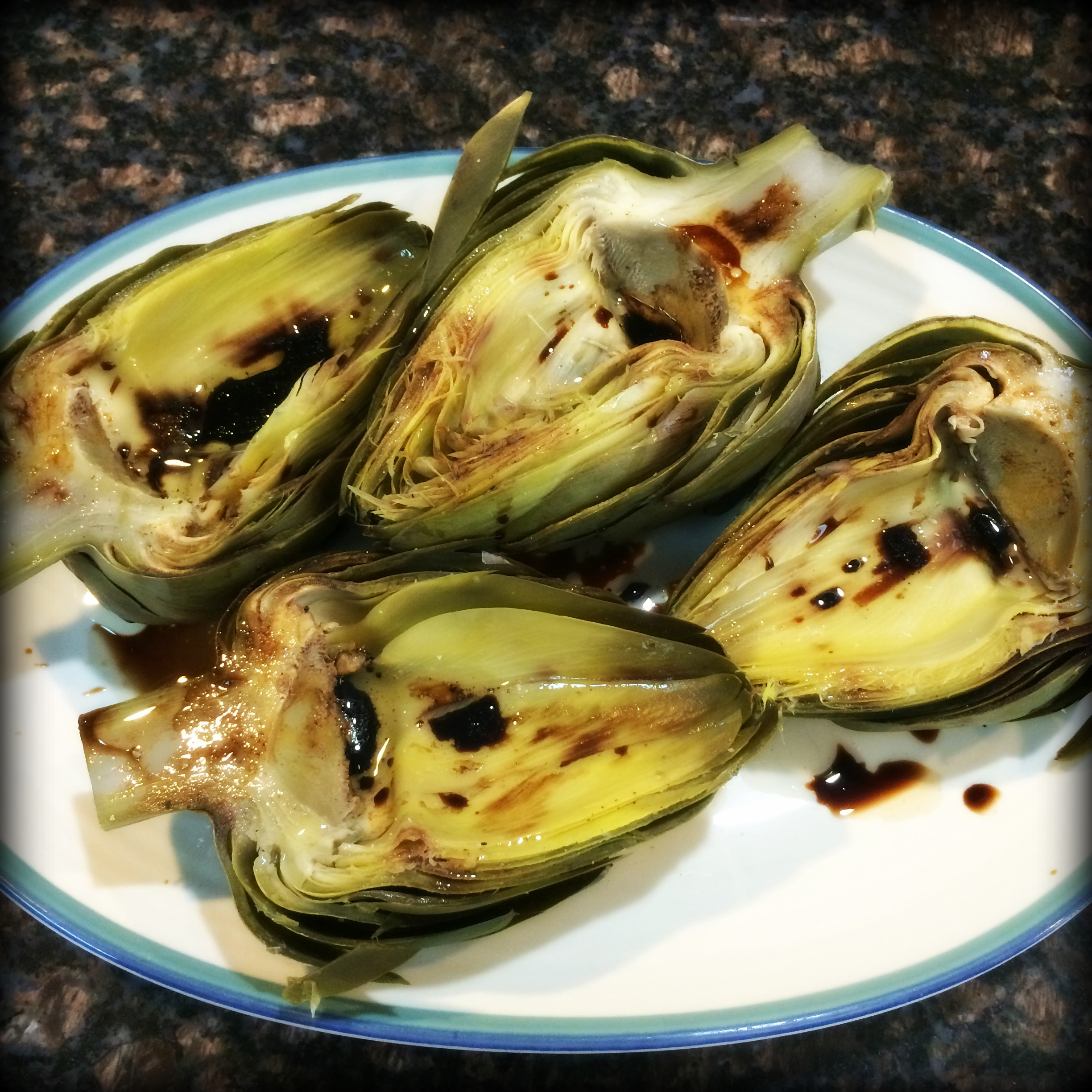 Marinated Grilled Artichokes with Mayo Dijon Sauce