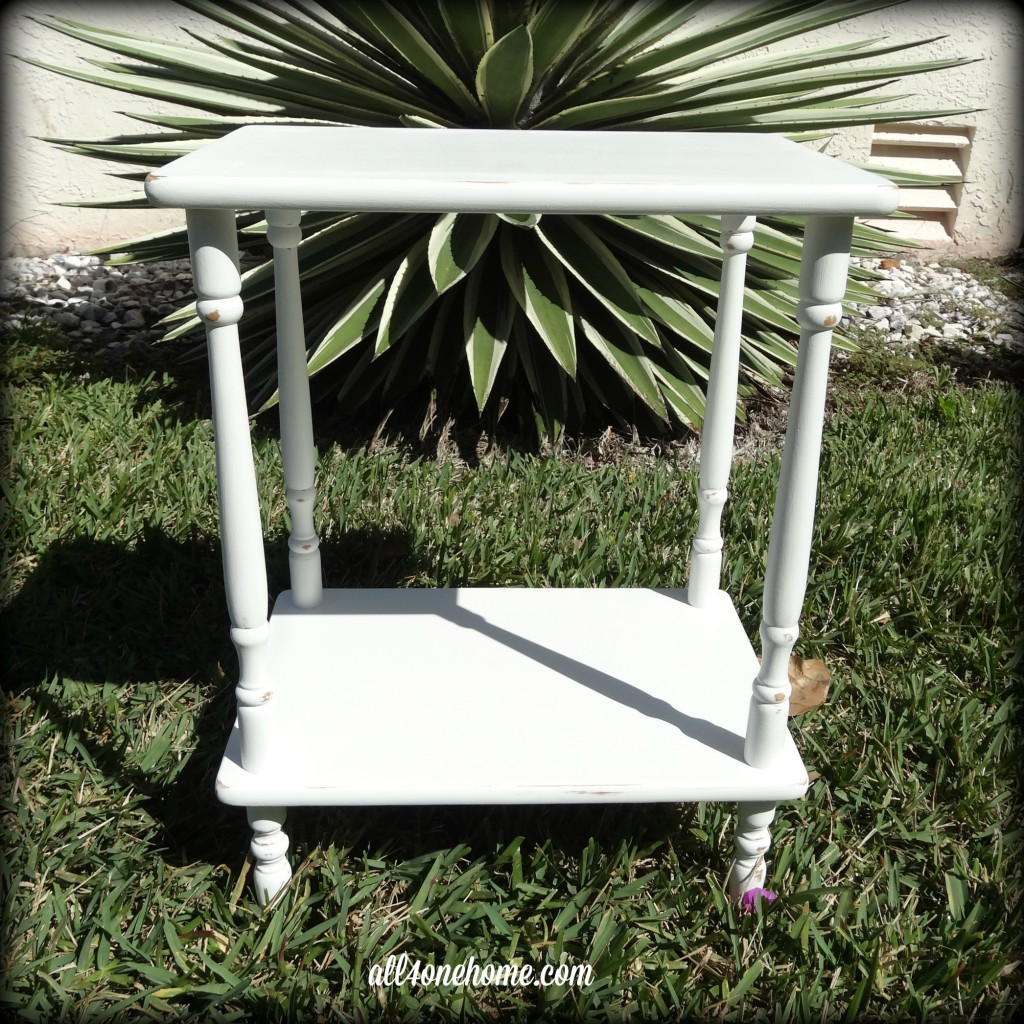 Antiqued White Table