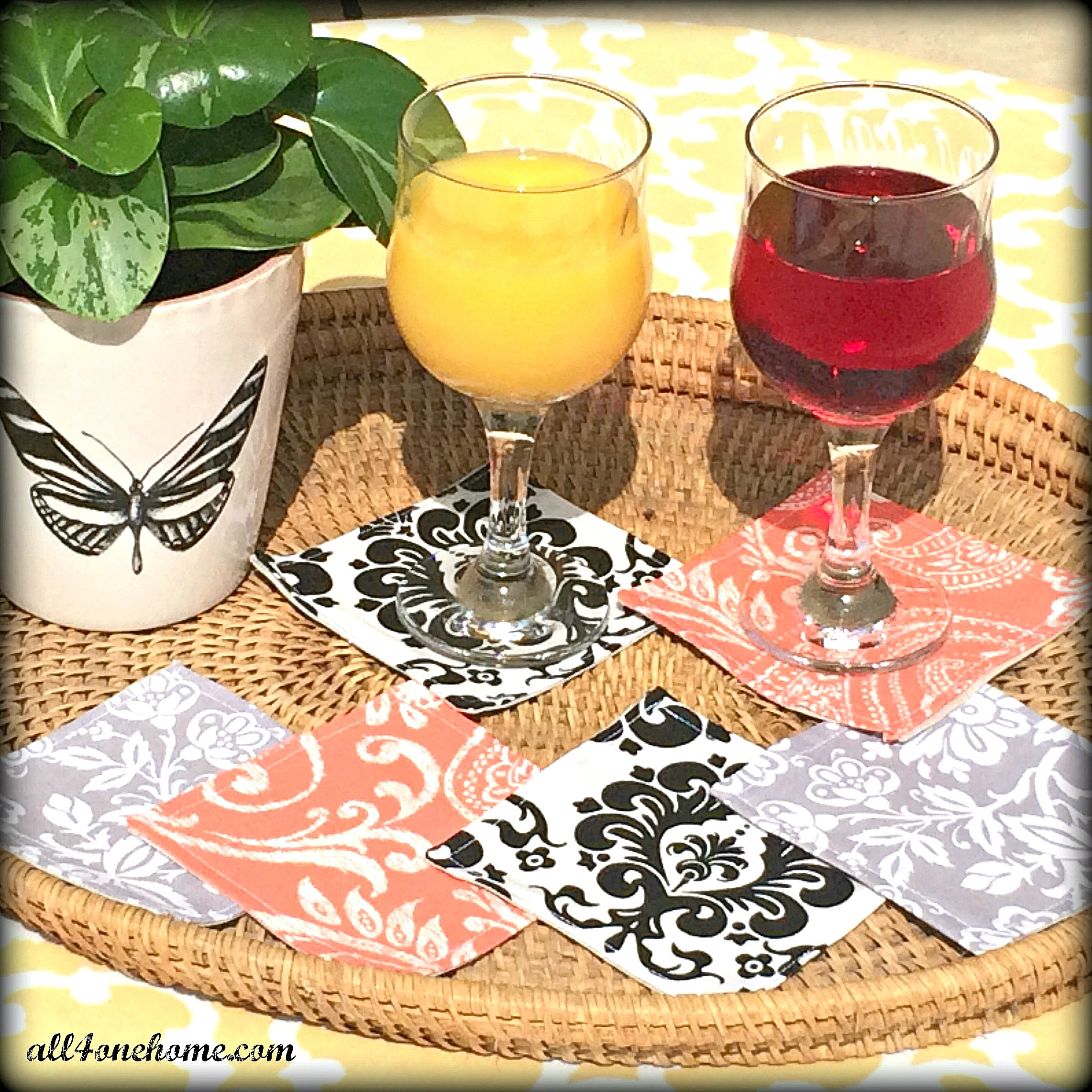 DYI Fabric Coasters